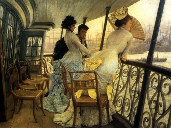Джеймс Тиссо. На галерее HMS «Калькутта». 1877