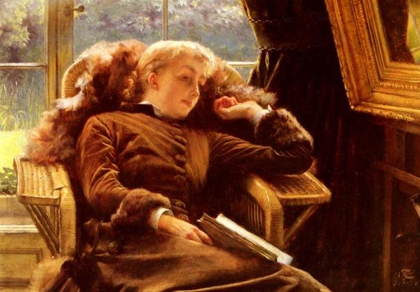 Джеймс Тиссо. Кэтлин Ньютон в кресле. 1878