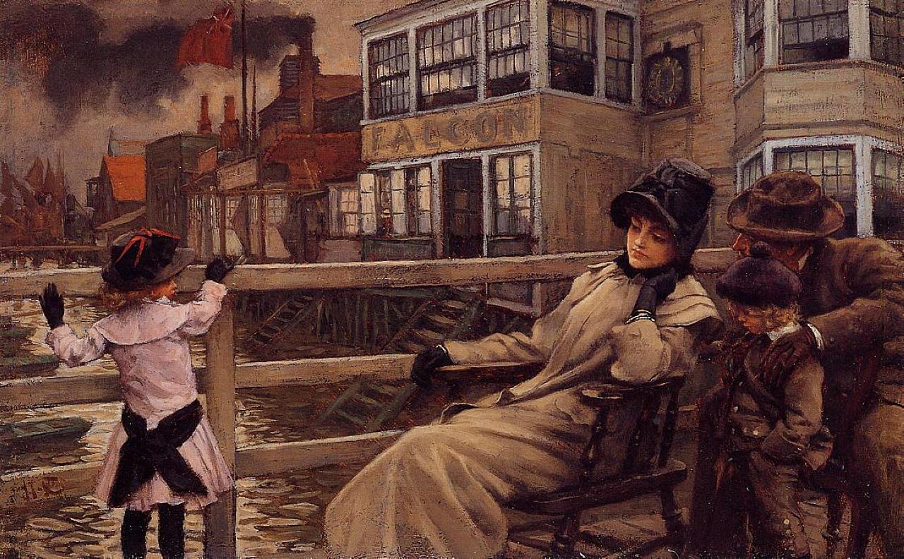 Джеймс Тиссо. Ожидание парома. 1878