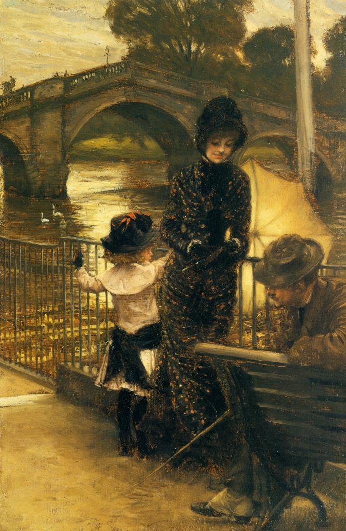 Джеймс Тиссо. Около Темзы у Ричмонда. 1878 — 1879
