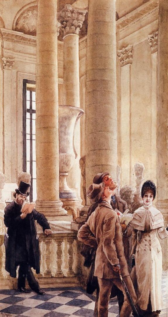 Джеймс Тиссо. В Лувре. 1879 — 1880