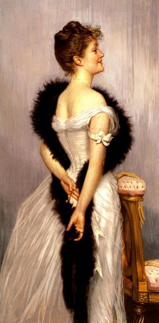 Джеймс Тиссо. Портрет виконтессы де Монморанд. 1889