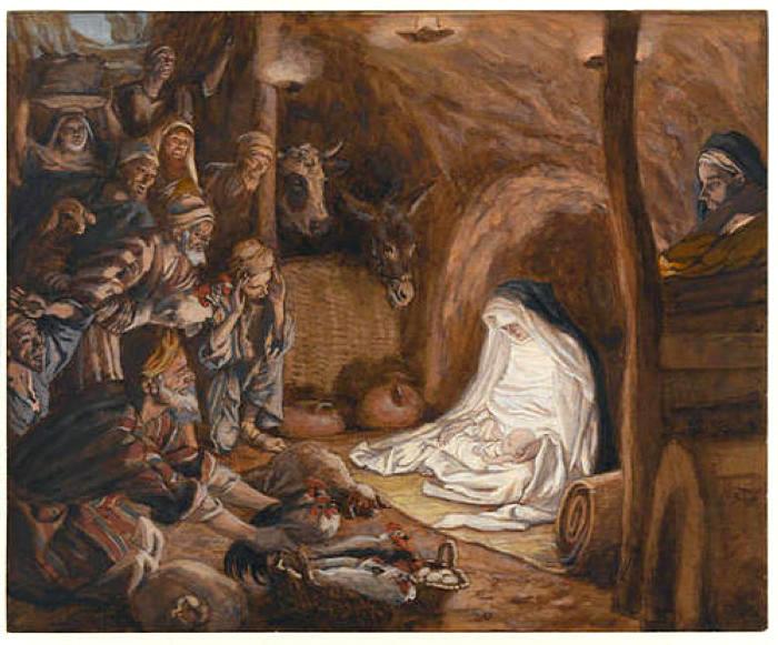 Джеймс Тиссо. Поклонение пастухов. 1886 — 1894