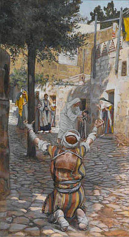 Джеймс Тиссо. Исцеление прокаженных в Капернауме. 1886 — 1894