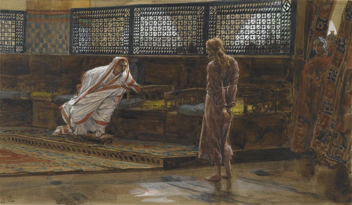 Джеймс Тиссо. Иисус перед Пилатом. Первый допрос. 1886 — 1894