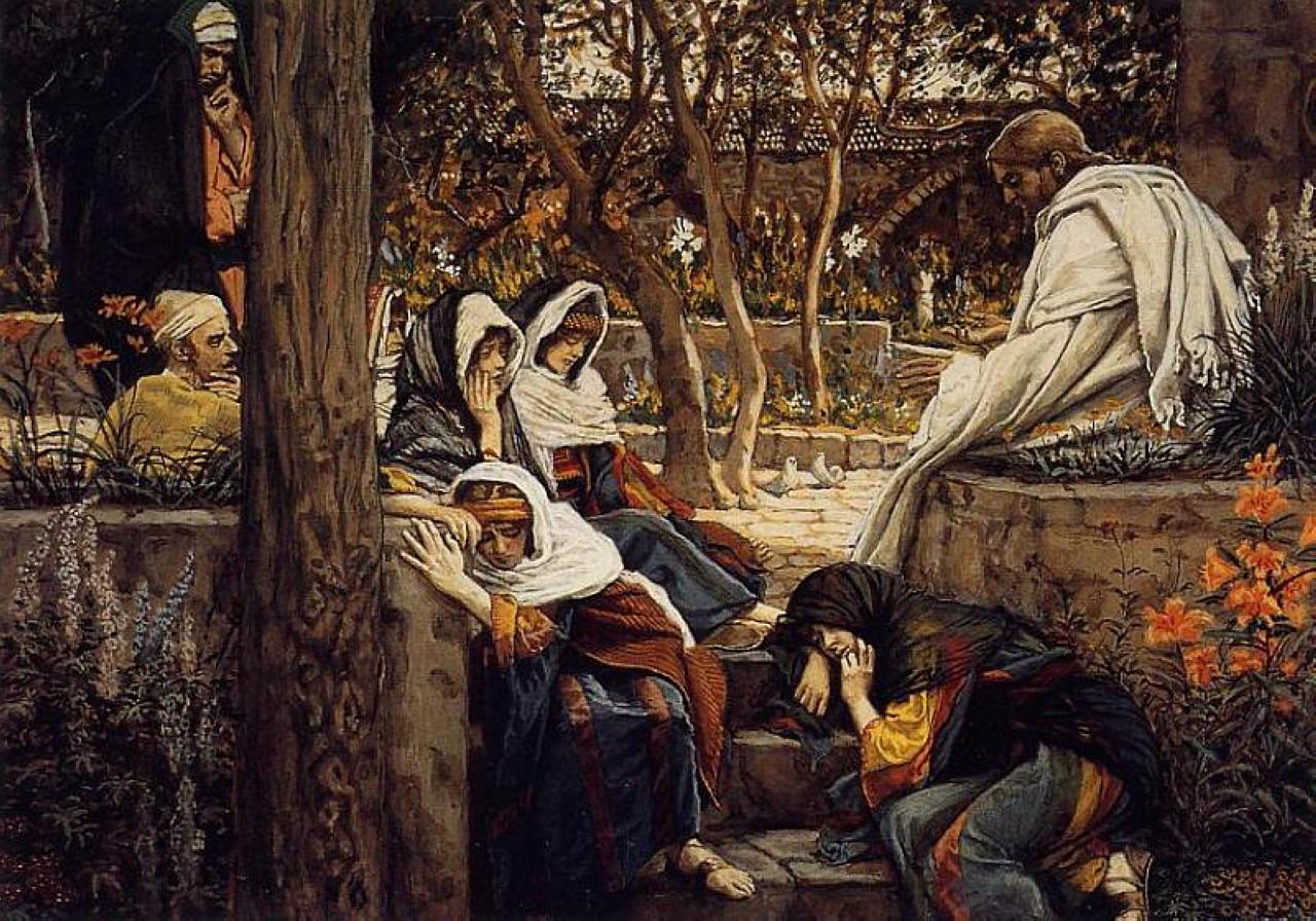 Джеймс Тиссо. Иисус в Вифании. 1886-1894