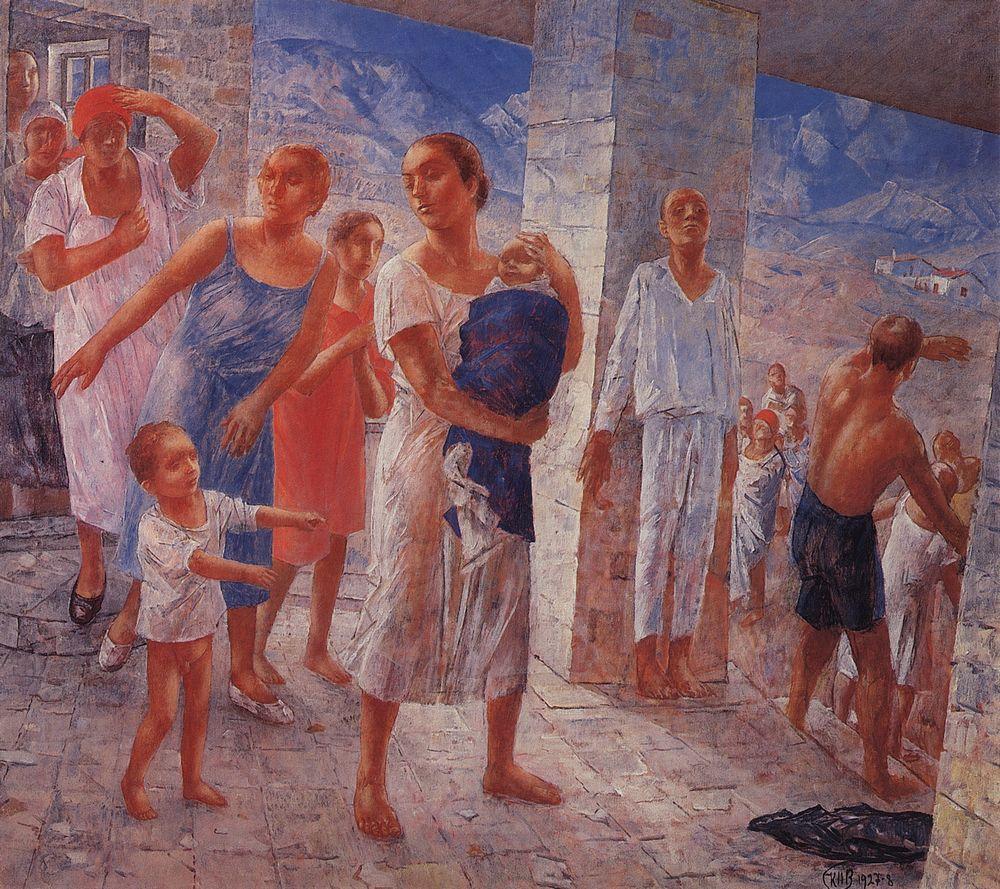 Кузьма Петров-Водкин. Землетрясение. 1928
