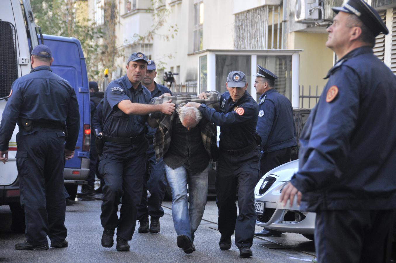 Задержанные за подготовку госпереворота в Черногории