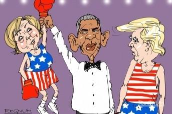 Обама делится с Клинтон своей Нобелевской премией мира. Хиллар Клинтон поделится своей атомной войной