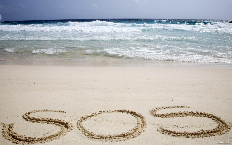 2011 надпись на песке возле волн  № 3342198 бесплатно