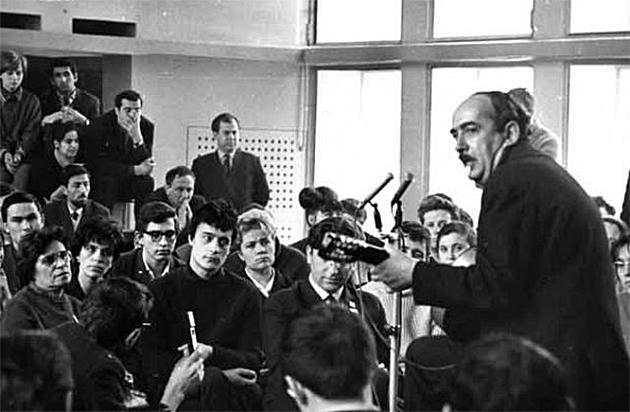 Александр Галич на Фестивале и семинаре песенной поэзии в Новосибирске. 1968 год