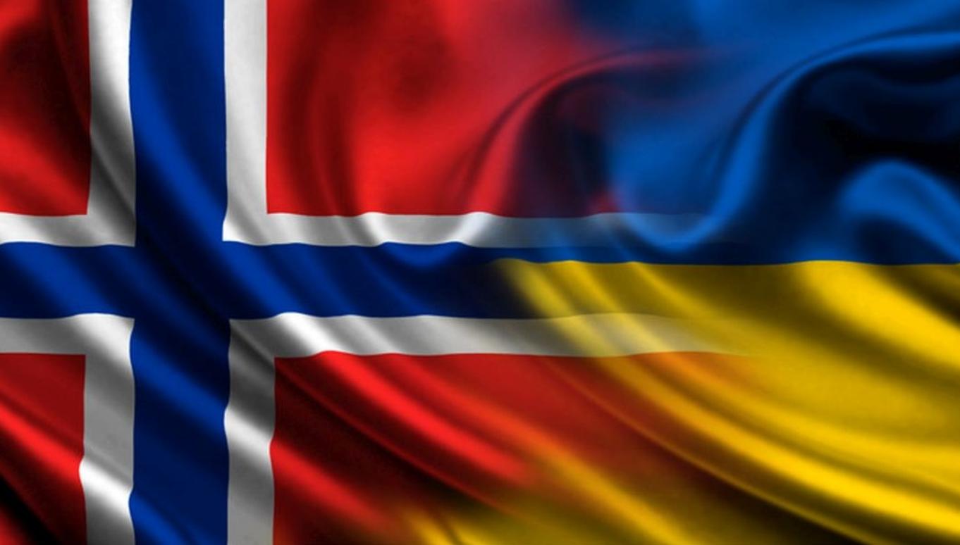 Флаги Норвегии и Украины