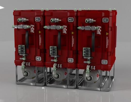 Рис. 4-2. Эволюция установок НЭЯР Е-Сат Андреа Росси: 3 модуля по 5 кВт каждый домашней отопительной системы E-Cat (продажи по предварительному заказу)