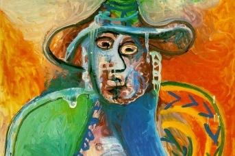Пабло Пикассо. Усаженный человек (фрагмент). 26.09.1970