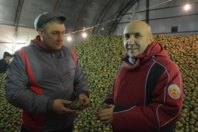 Глава Минсельхоза Чувашии Сергей Артамонов в Батыревском районе