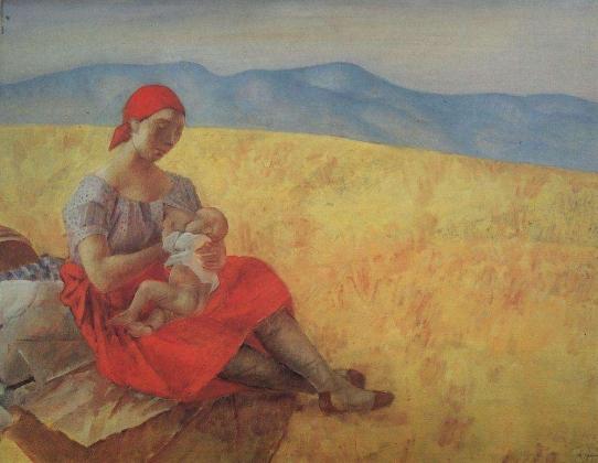 Кузьма Петров-Водкин. Мать2. 1913