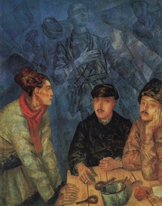 Кузьма Петров-Водкин. После боя. 1923