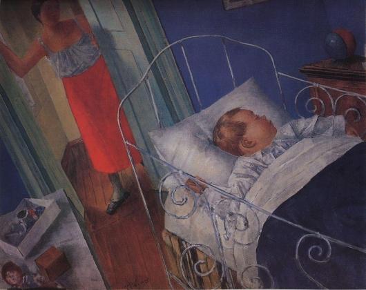 Кузьма Петров-Водкин. В детской. 1925
