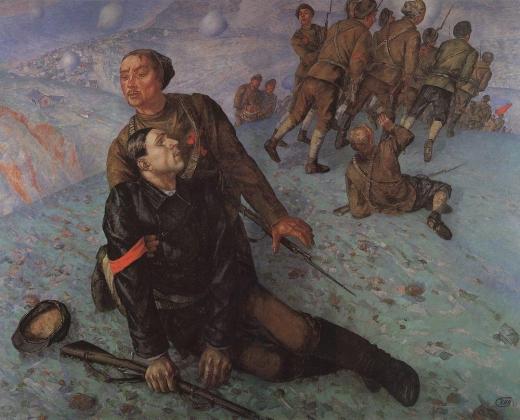 Кузьма Петров-Водкин. Кузьма Петров-Водкин. Смерть комиссара. 1928