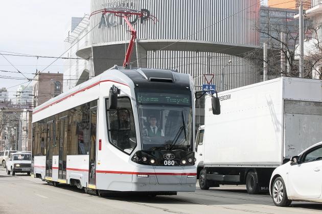 В трамвайном депо пополнение: Ростов-на-Дону получил две «Городские звезды»