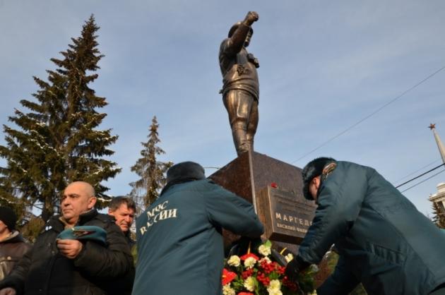 Открытие памятника Василию Маргелову