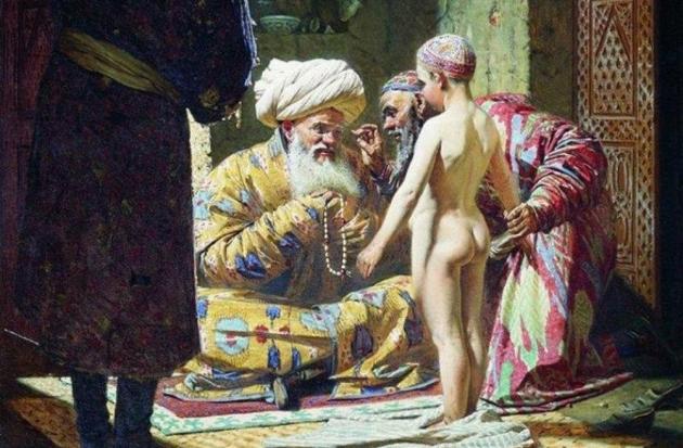Василий Верещагин Верещагин. Продажа ребёнка-невольника. 1872