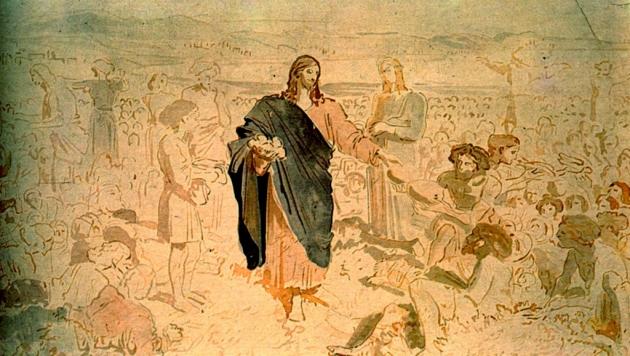 «Насыщение множество людей», А. Иванов, XIX век