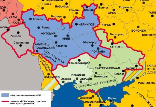 Украинская народная республика под Германской оккупацией и её территориальные претензии. Весна 1918 года