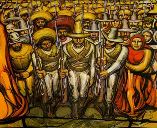 Давид Сикейрос. Мексиканская революция. 1957