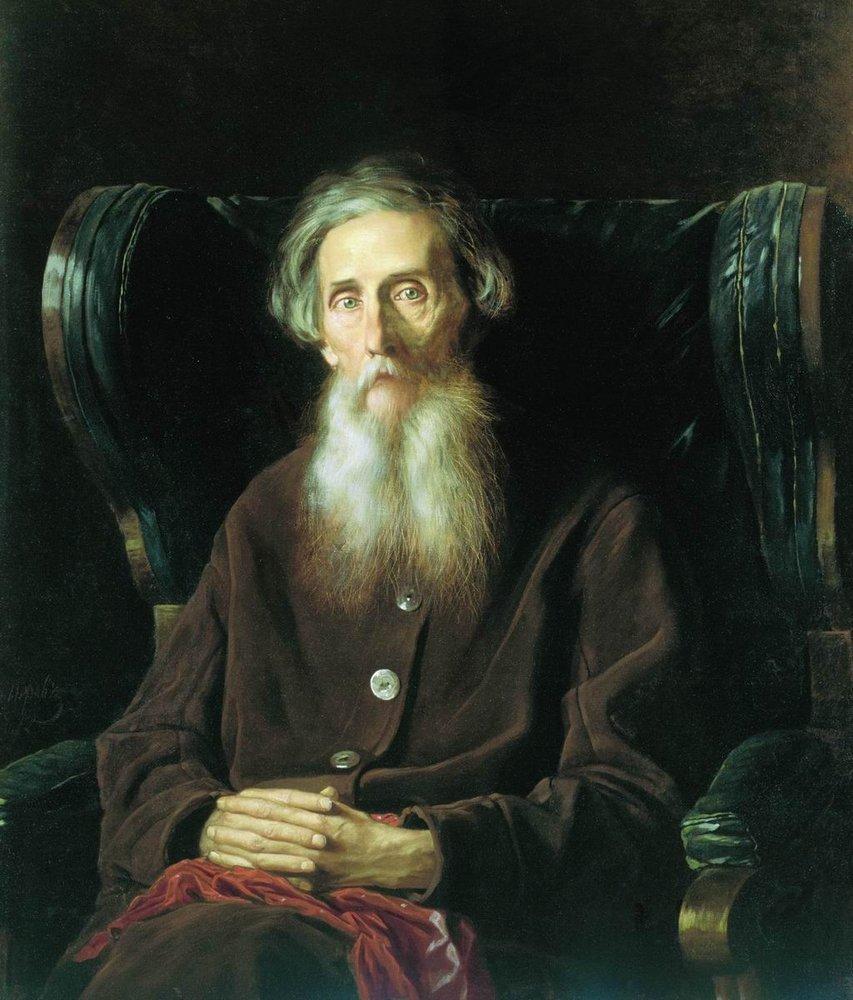 Василий Перов. Портрет писателя Владимира Ивановича Даля. 1872