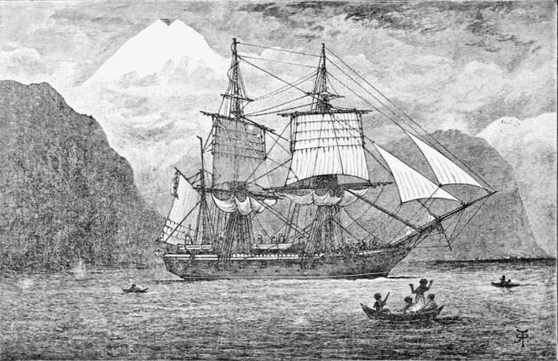 «Бигль» в Магеллановом проливе