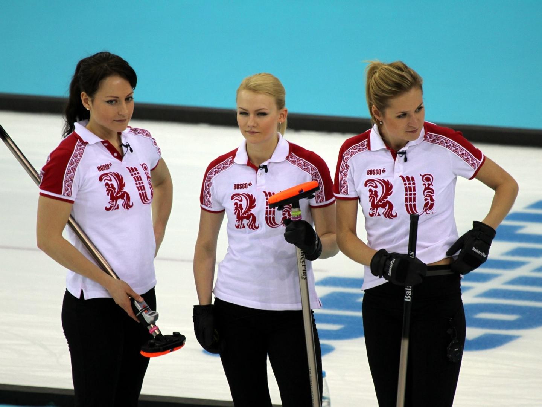 Российская женская сборная по керлингу фото