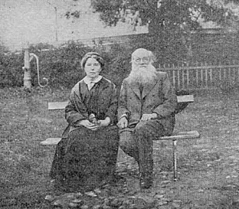Петр Кропоткин с женой