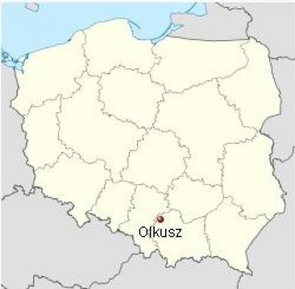 Расположение города Олькуш