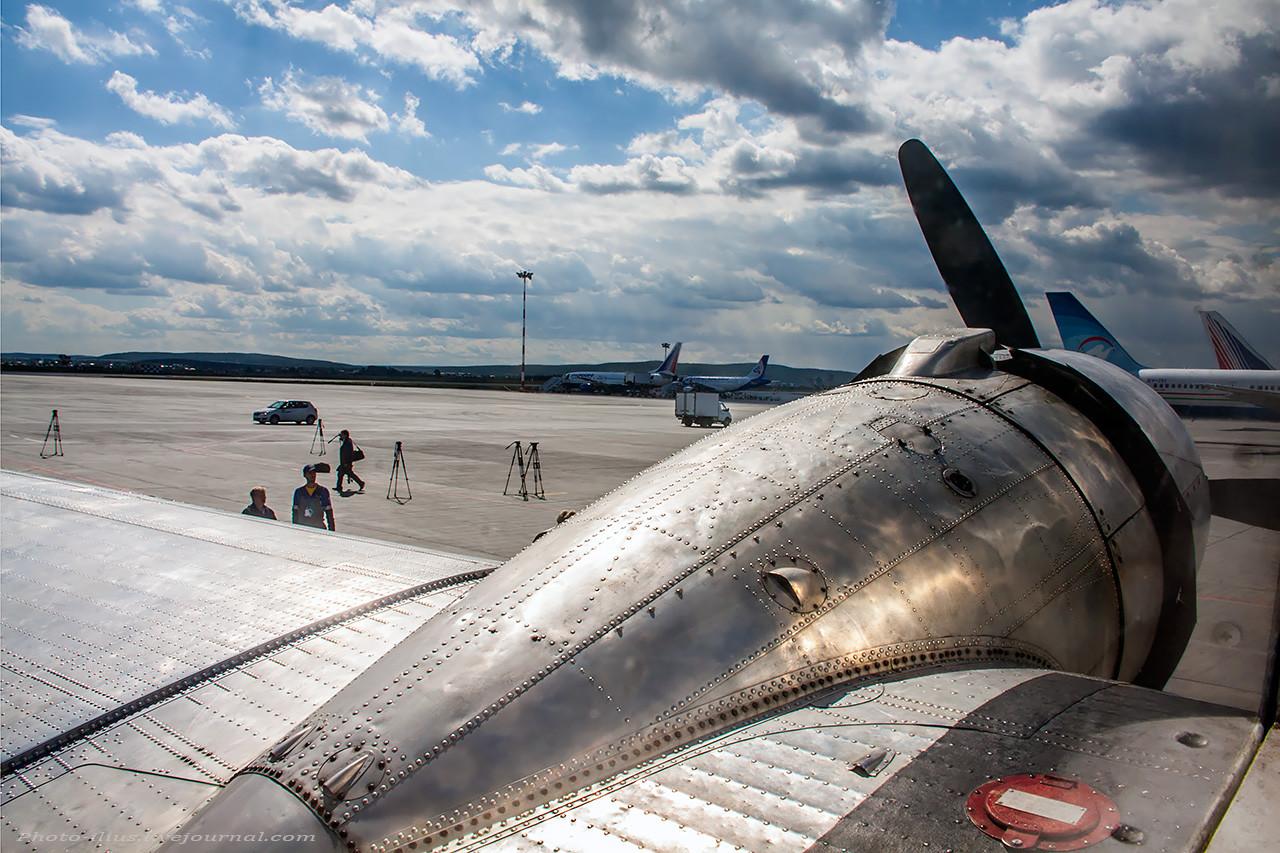 Вид с места летчика С-47
