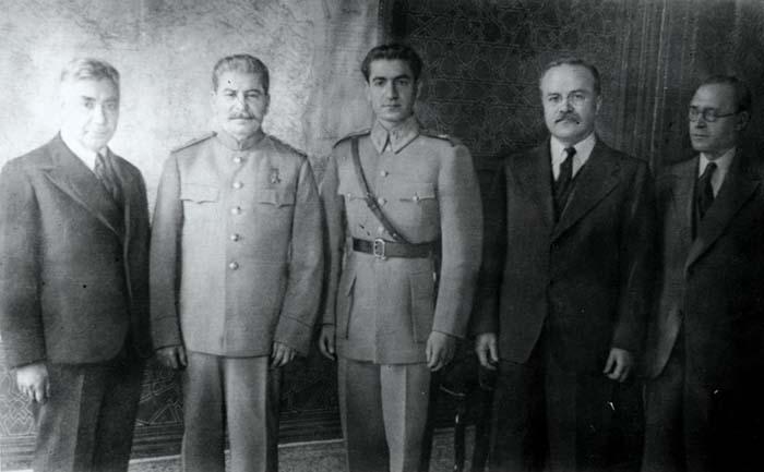 Шах Ирана, Сталин, Молотов