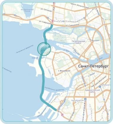 Карта Центрального участка ЗСД