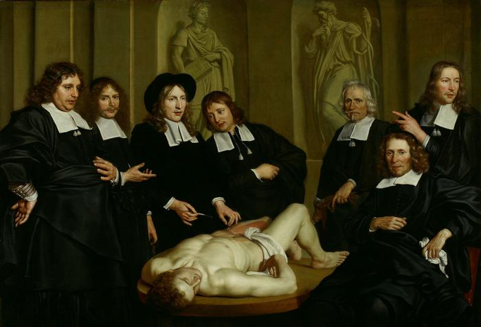 Адриан Баккер. Урок анатомии Фредерика Рюйша. 1670