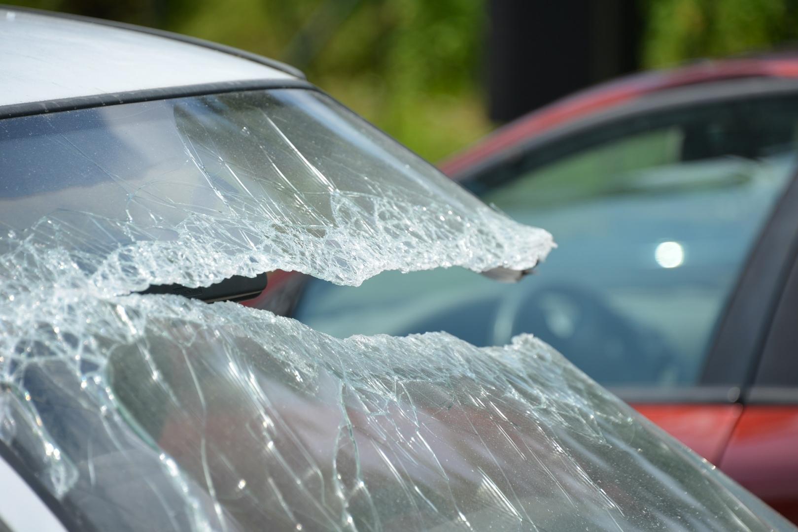 Пострадавший в аварии автомобиль
