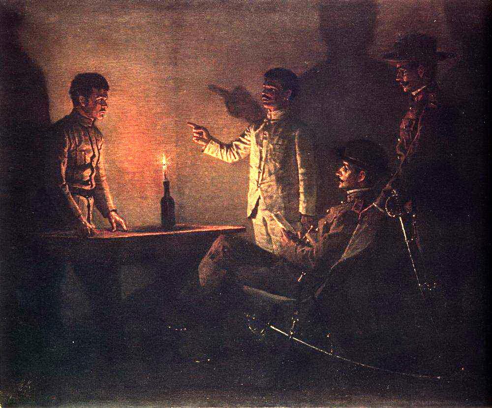 Верещагин Василий. Допрос перебежчика. Около 1901
