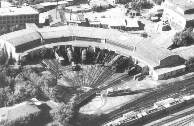 Железнодорожное депо на станции Кзыл-Орда, построенное в 1906