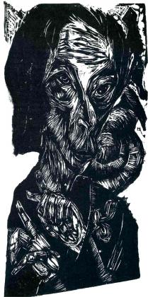 Эрнст Людвиг Кирхнер. Голова больного человека. 1918