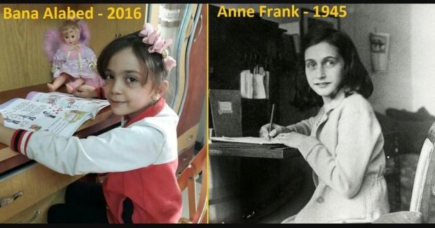 Сравнение Баны Алабед с Анн Франк