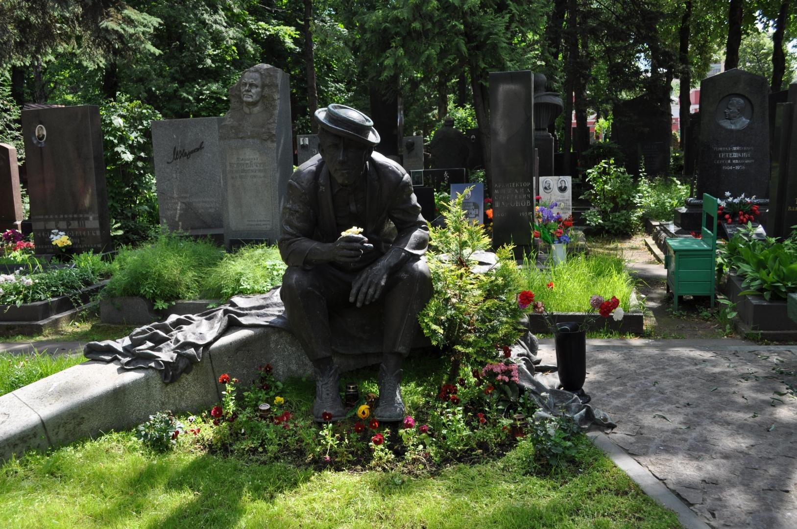 Памятник никулину на новодевичьем кладбище памятники воронеж цены