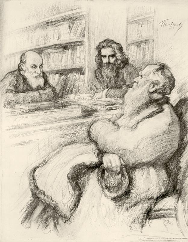 Картинки по запросу Леонид Пастернак Толстой Фёдоров и Соловьёв