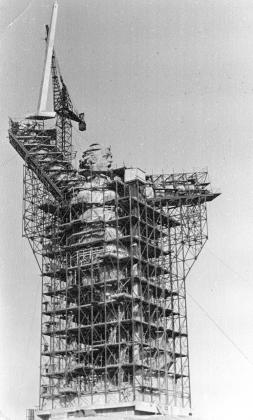 Сооружение монумента «Родина-мать зовет!»