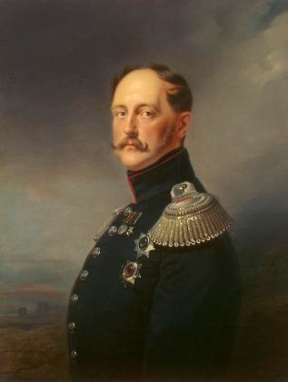 Император Николай Павлович (Николай I). Портрет кисти Франца Крюгера. 1852