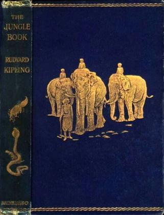 Книга джунглей. Редьярд Киплинг. Обложка издания 1894 года