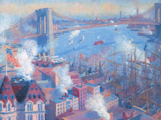 Теодор Эрл Батлер. Бруклинский мост, 1900