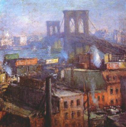 Эдмунд Грисен. Бруклинский мост, Ист-ривер. 1916